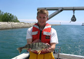 Young Fisherman with Yellow Perch