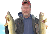 Fisherman with Walleye