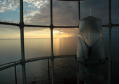 Caribou Island Lighthouse Turret Sunset