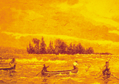 Drawing, Fishing From Canoes, Historical