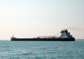 Freighter on Lake Huron